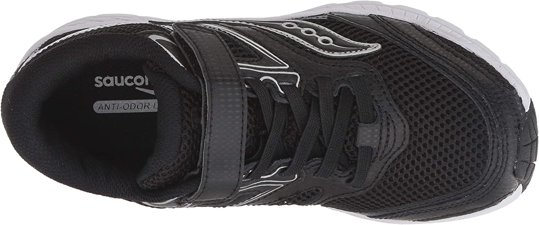 130 Medium US Little Kid Saucony Unisex-Kids Cohesion 12 A//C Sneaker Black