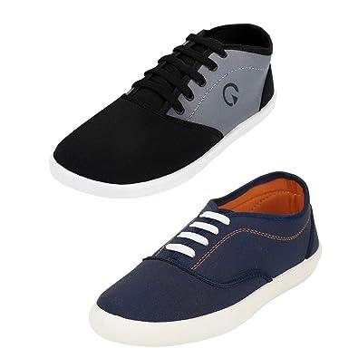Globalite Men`s Casual Combo Shoe and Sandal (1 Pair Shoe and 1 Pair ... 175316c4b81b