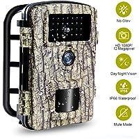 Caméra de Chasse Camera Chasse étanche avec Une Vitesse de Déclenchement de 0,2 Seconde Camera Nocturne Chasse pour la Vision Nocturne et la Sécurité du Domicile|12MP|65ft