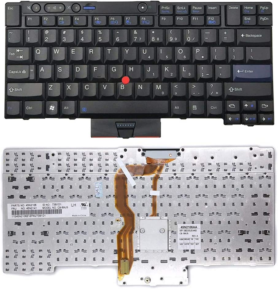 haixclvyE Pro Laptop Keyboard Wireless Keypad US Ver for Computer Notebook Laptop Lenovo ThinkPad T410 T420 T510 T520 W510 W520 X220