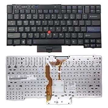 NAttnJf Teclado del Ordenador portátil US Ver para Lenovo ThinkPad T410 T420 T510 T520 W510 W520 X220: Amazon.es: Electrónica