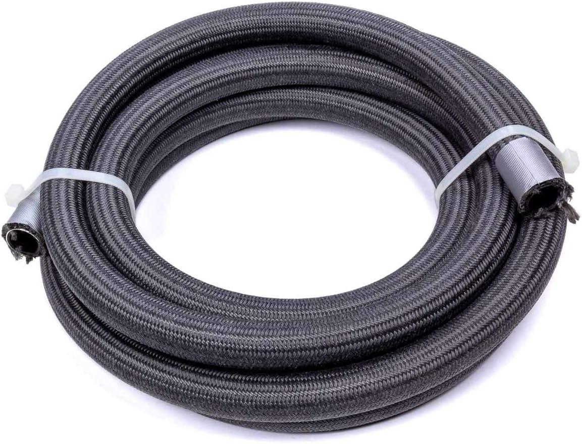 Braided Fire Retardant Fabric 20 ft Hose PTFE 8 AN Black Each