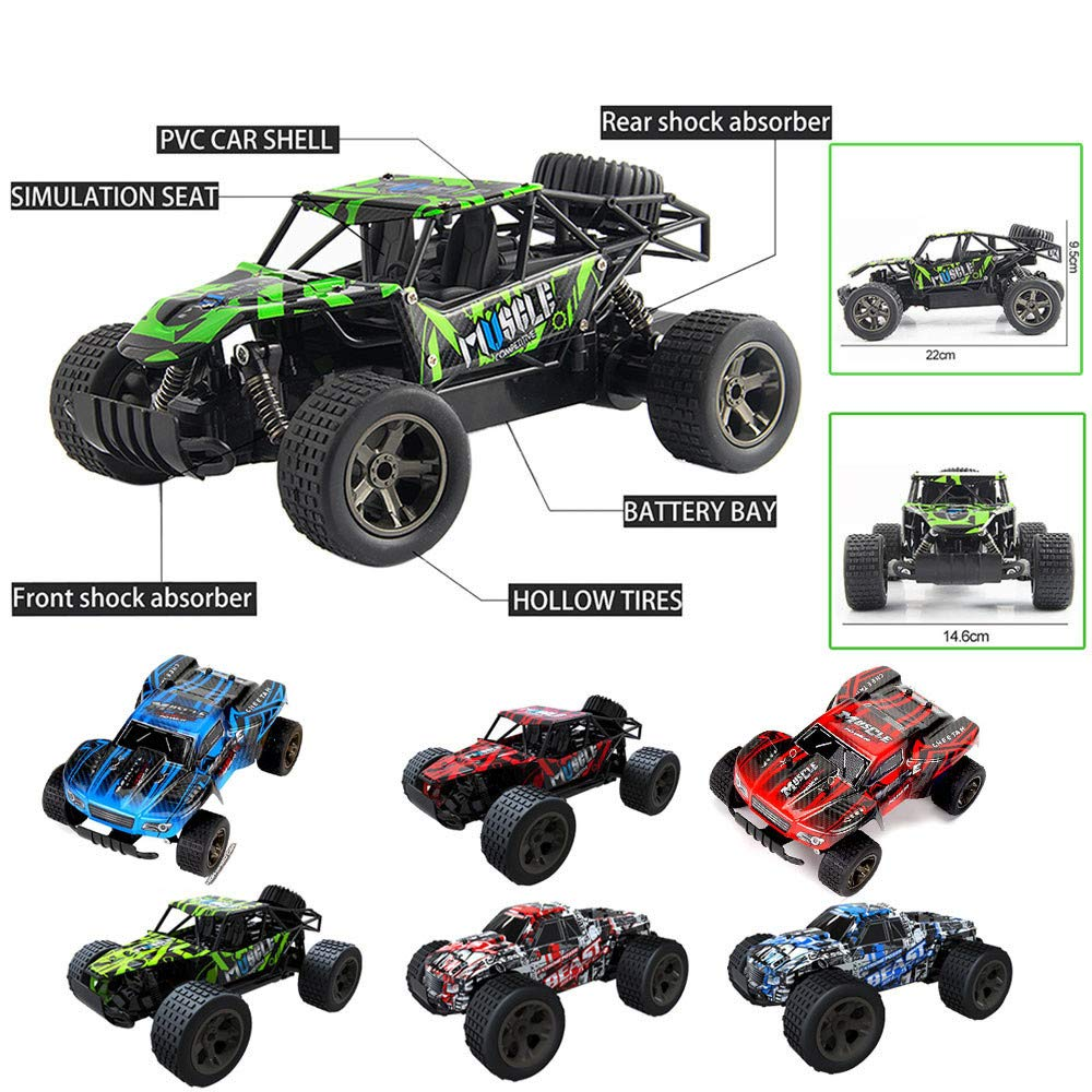 DICPOLIA 1:20 2WD High Speed RC Racing Car 4WD Remote Control Truck Off-Road Buggy Toys,Car Toys for Kids Toddlers Baby Boys Girls Adults Seat Model Toys Steering Wheel Car Toy Track (A)