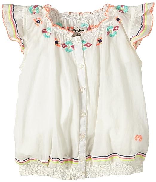 Pepe Jeans Blusa para niña, color elfenbein (off white 803), talla 7
