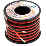 14 awg Silicone Electrical Wire 2 Conductor Parallel Wire line 50ft [Black 25ft Red 25ft] 14 Gauge Soft and Flexible…