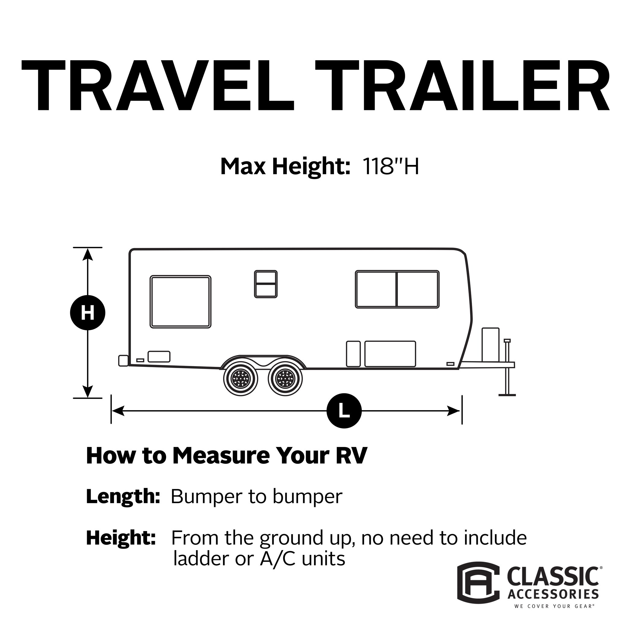 Classic Accessories OverDrive PolyPro 1 Cover for 35' to 38' Travel Trailers by Classic Accessories (Image #3)