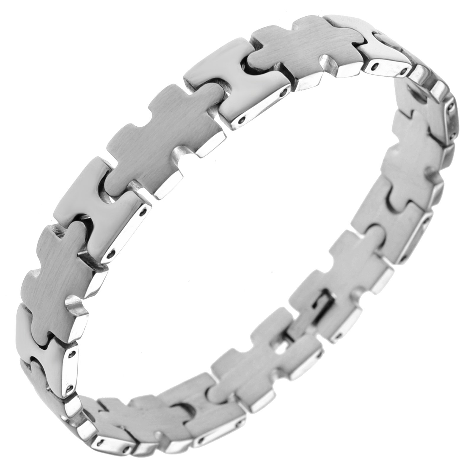 Stainless Steel Puzzle Bracelet (9'' Long)