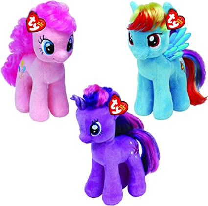 Amazon.com: Ty My Little Pony Beanie Babies 3 Pack: Toys & Games
