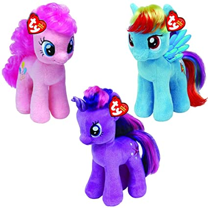 Image Unavailable. Image not available for. Color  TY My Little Pony Beanie  Babies 3 Pack 490f4598bd92