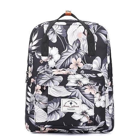 6f0ee5070443 Amazon.com: ESVAN Travel Backpack,Original Floral Leaf Lightweight ...