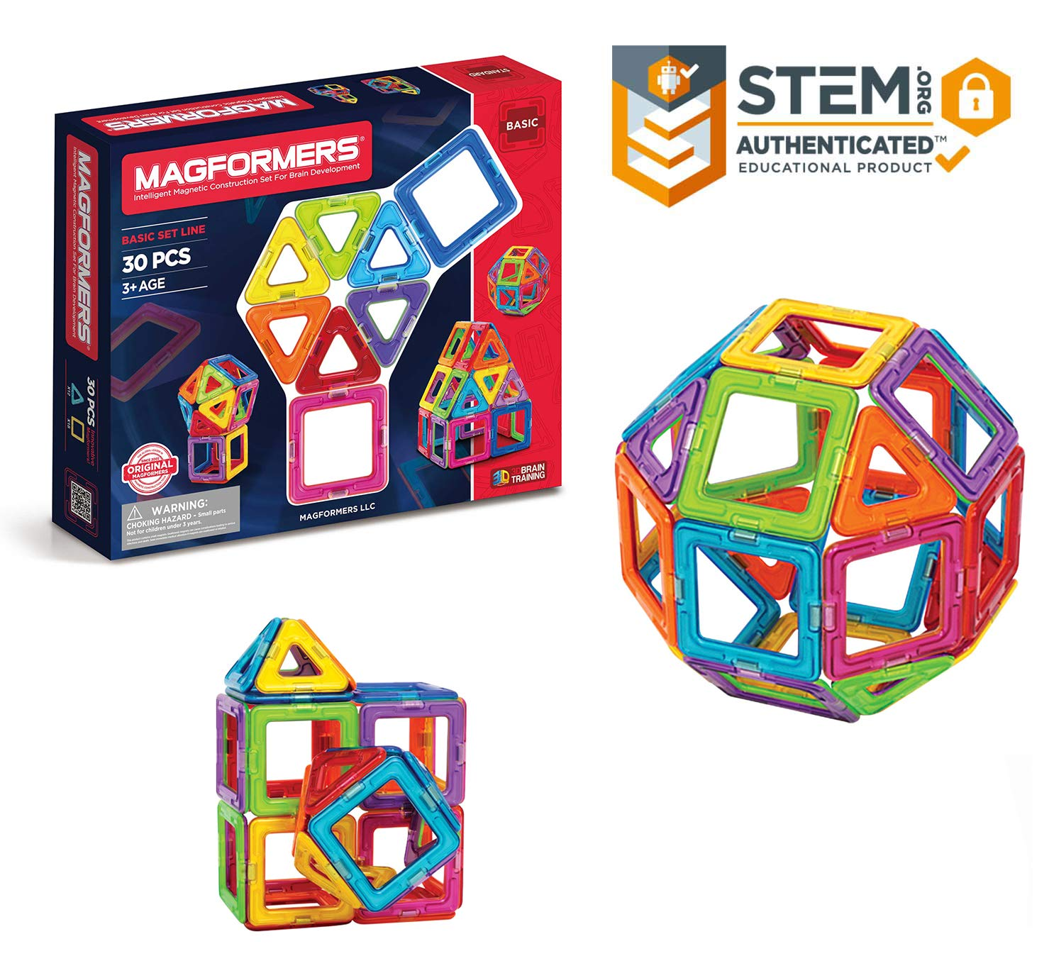 Magformers Classic Set colors may vary (30pieces)