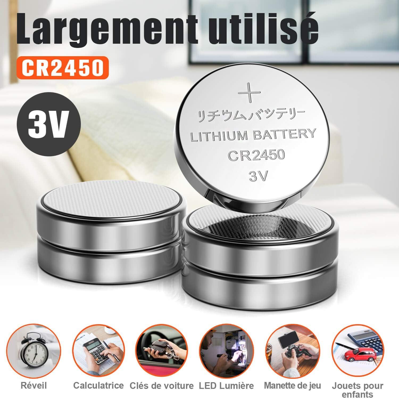 Bouton de Pile Bouton /électronique 10 pi/èces Batterie CR2430 Lithium 3V
