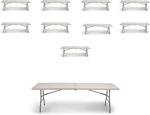 EventStable TitanPRO Plastic Bi-Folding Table – 8 x 30 – 10-Pack