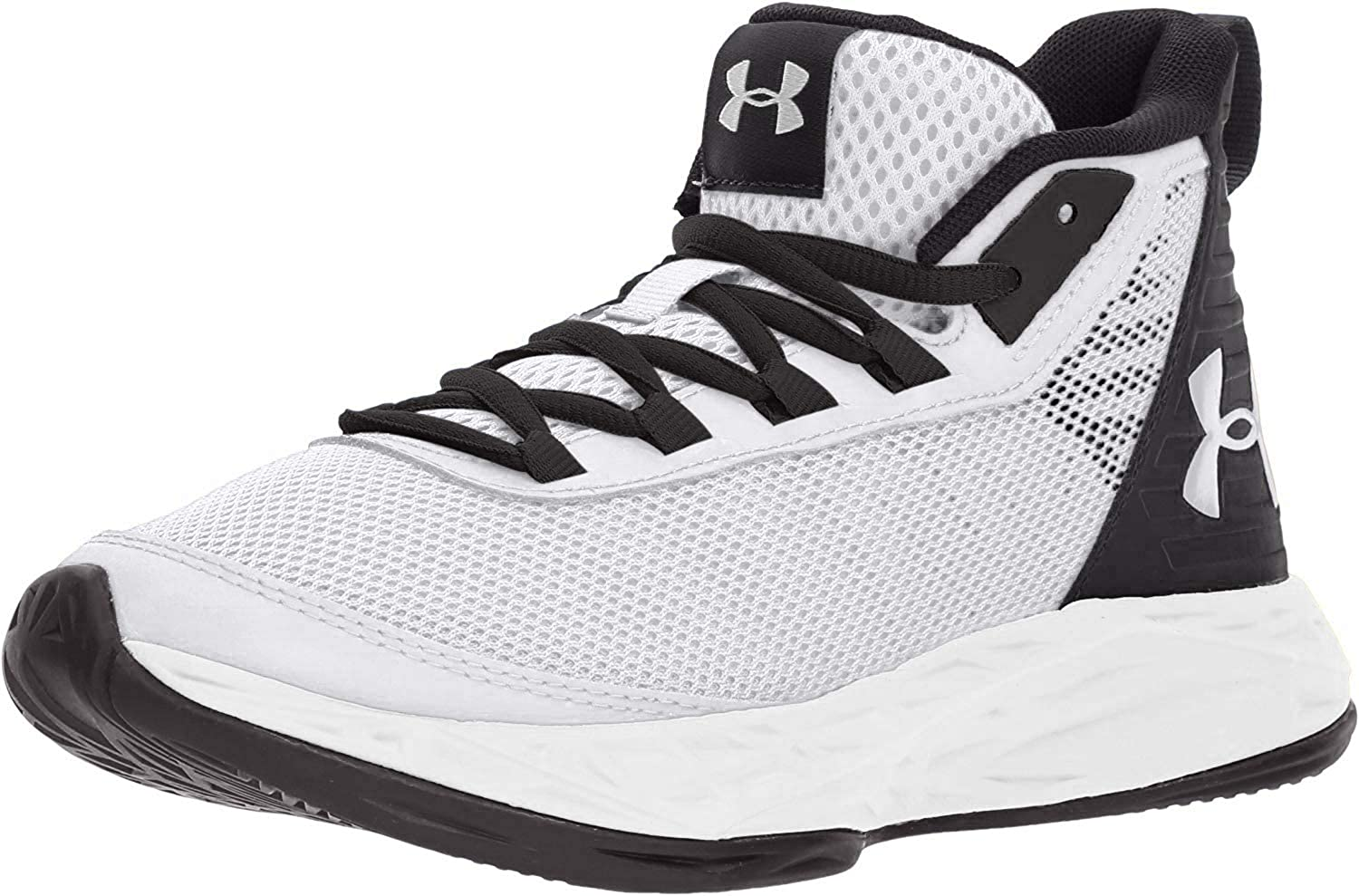 under armour white and black shoes