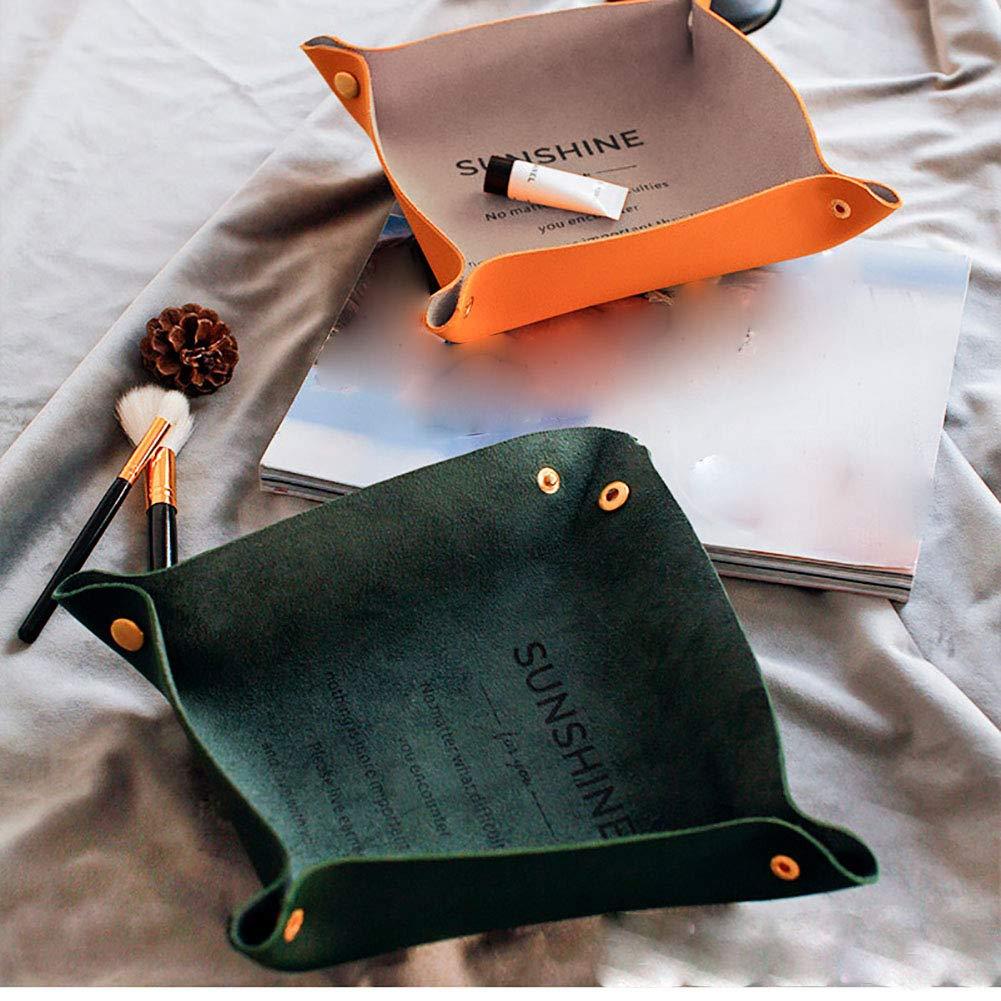 Orecchini e collane WENHAOYU per riporre Trucchi Vassoio Porta Gioielli in Pelle da Donna