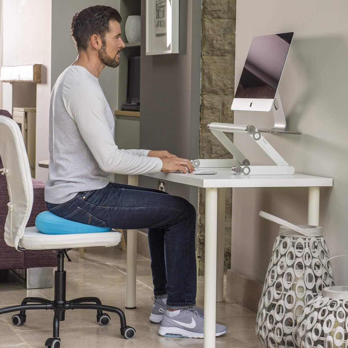 Support R/églable Pliable pour PC Portable BACK Table Ordinateur Solide en Aluminium Haute Qualit/é Plateforme Ventil/ée Noir Support de Souris