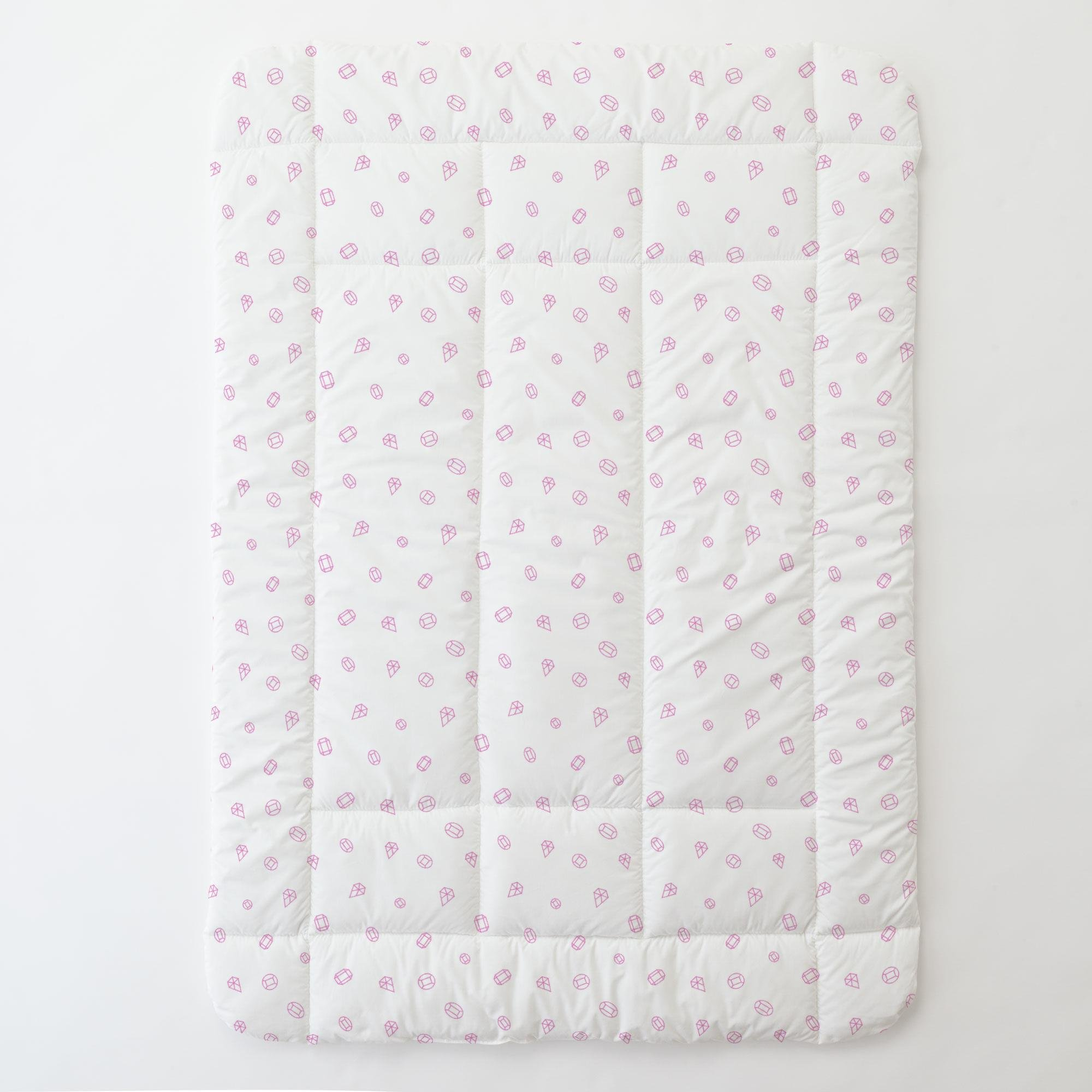 Carousel Designs Hot Pink Princess Gems Toddler Bed Comforter