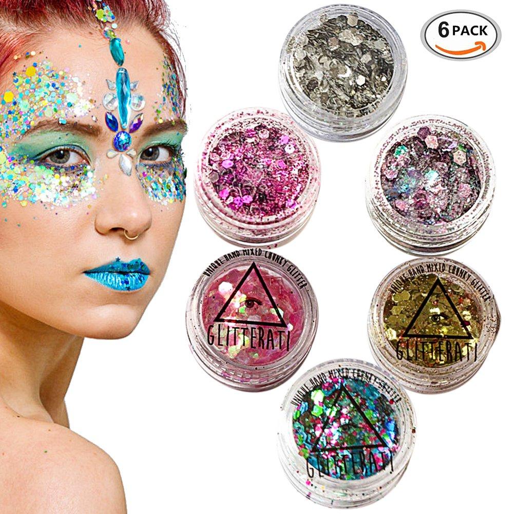 111e46478e1e3 Chunky Glitter, Chunky Face Glitter, Face Glitter Set, Festival Glitter For  Face, Face Glitter Chunky Glitter Cosmetic Glitter Sparkle Decoration ...