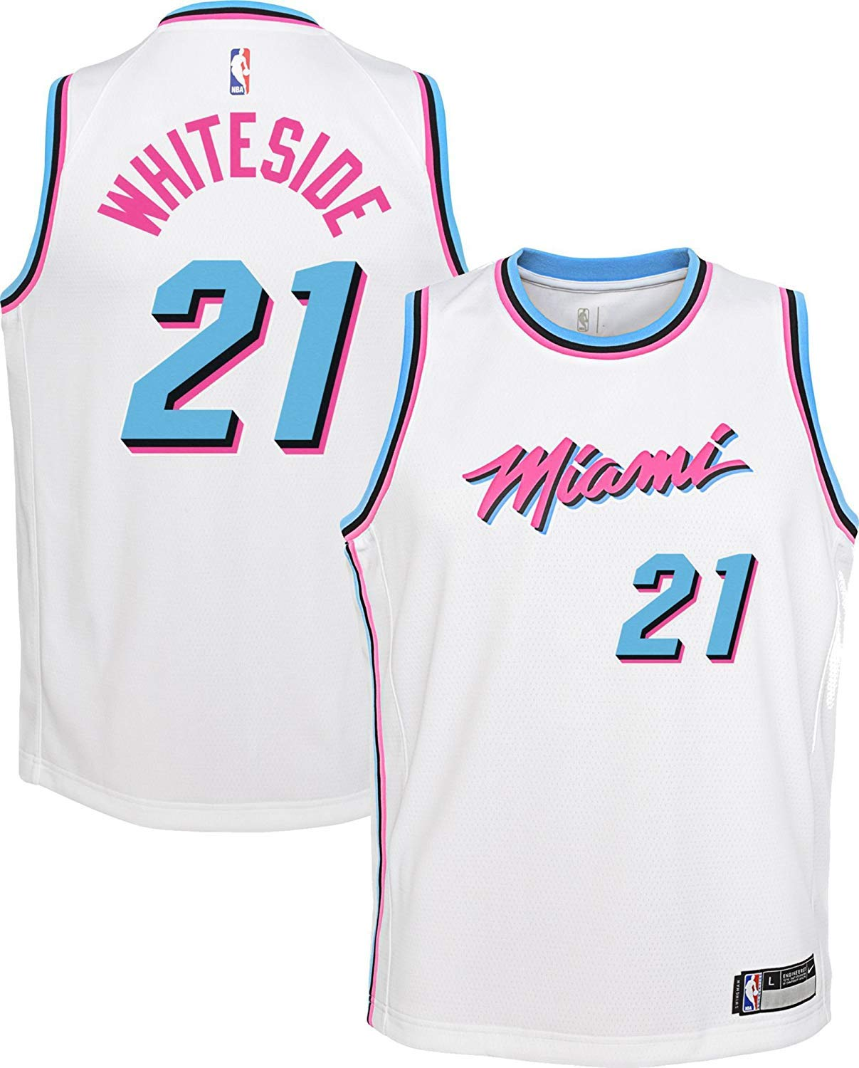 low priced 74905 9ed6f Amazon.com : Outerstuff Hassan Whiteside Miami Heat #21 ...