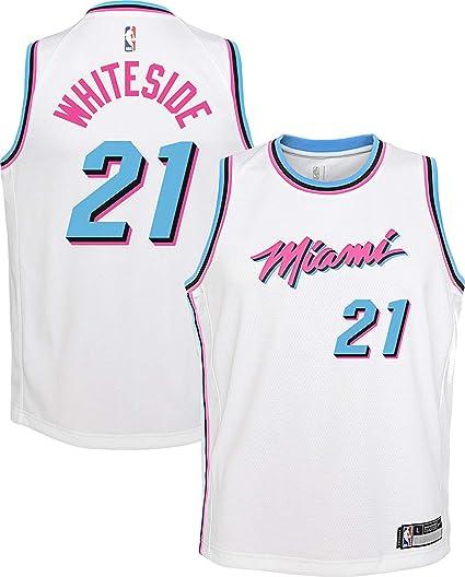 low priced b790d f73e4 Amazon.com : Outerstuff Hassan Whiteside Miami Heat #21 ...