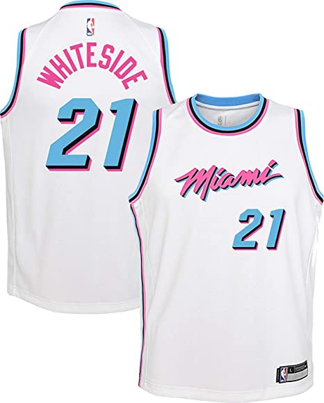 low priced cfc7f a1b14 Amazon.com : Outerstuff Hassan Whiteside Miami Heat #21 ...