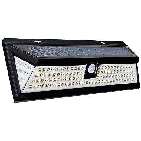 Tehoi 118 LED Solar Security Light - Motion Sensor Outdoor Lighting, Dusk to Dawn Detector