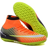 1ec46257dff Turf Soccer Cleats Men Superfly 5 CR7 Soccer Shoes Kids Indoor Football  Trainers (Orange
