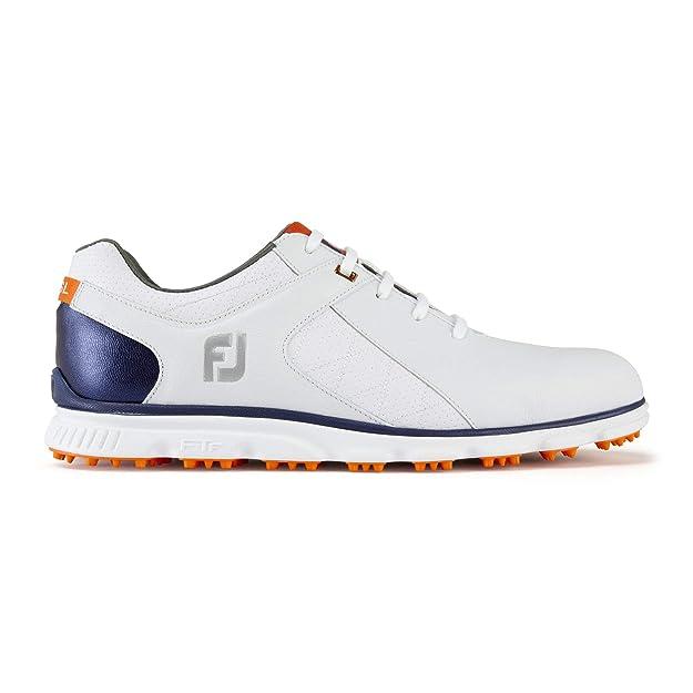 FootJoy Men's Pro/SL-Previous Season Style Golf Shoes White 11.5 M Navy/Orange, US