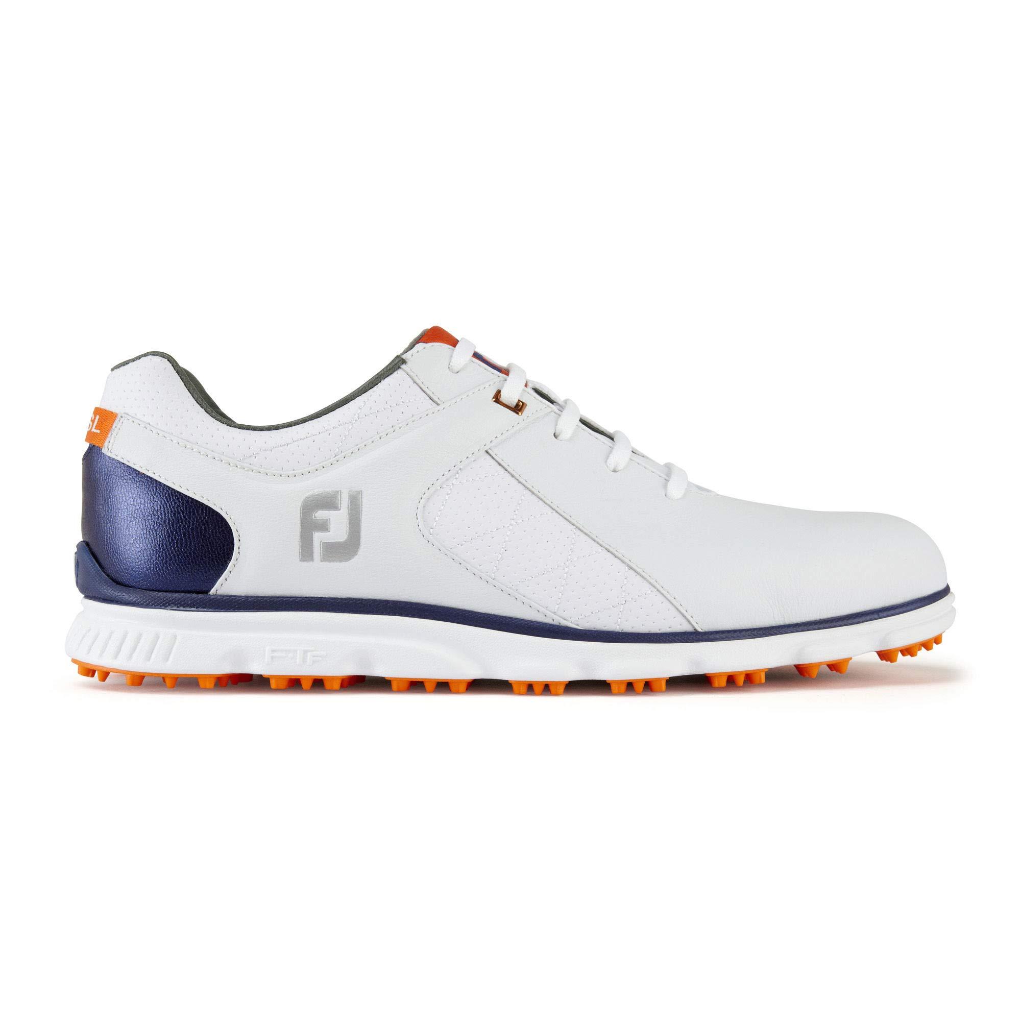 FootJoy Men's Pro/SL-Previous Season Style Golf Shoes White 8 M Navy/Orange, US