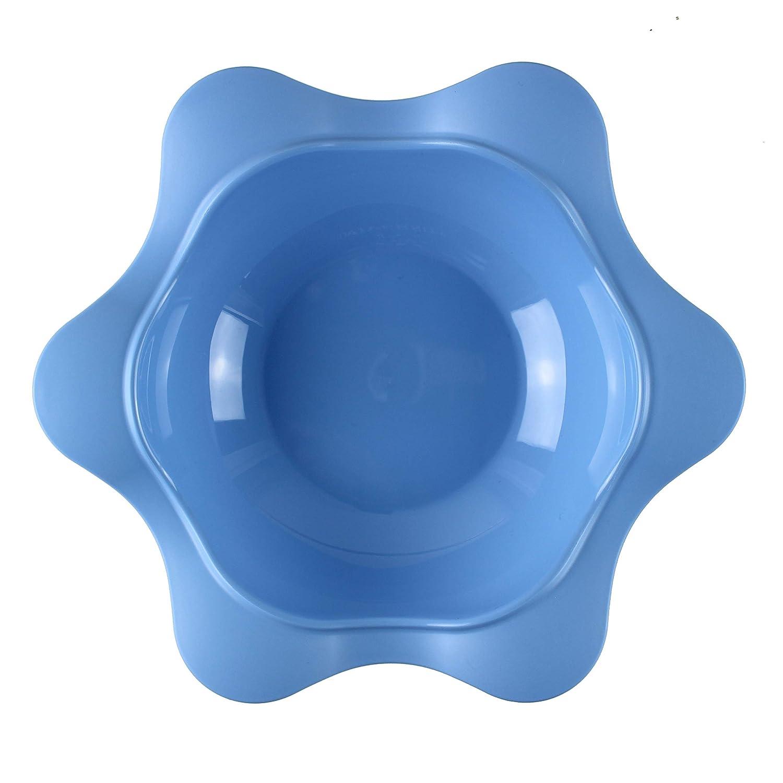 Gr/ün BABY NOVA Kindergeschirr Set 3 tlg 3 hochwertige Teller Mint Breischale mit Abstreichkante -Rosa rutschfest BPA frei Blumenteller Set