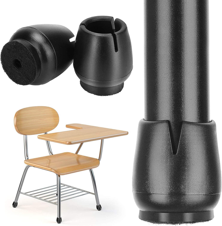 Redondo Negro Protectores de Silicona para Silla Protectores Piso Tabla pata de la silla Caps Sinwind 32 Piezas Protectores de Patas de Silla Almohadilla de Silicona para Muebles 12-16mm