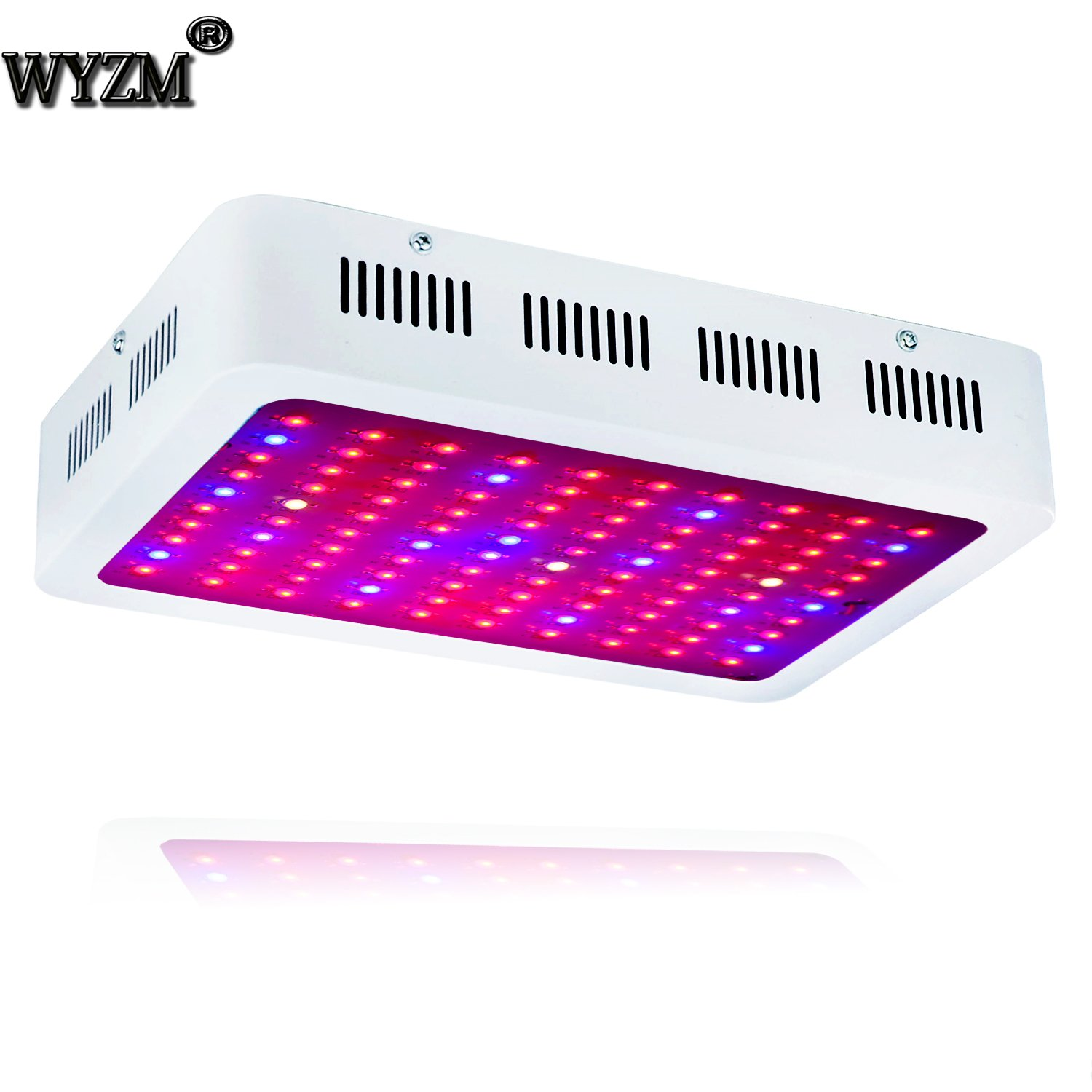 1000W Full Spectrum LED Grow Light,100-265V Input,Special Design for Indoor Growing Herbs and Plants (100X10W)