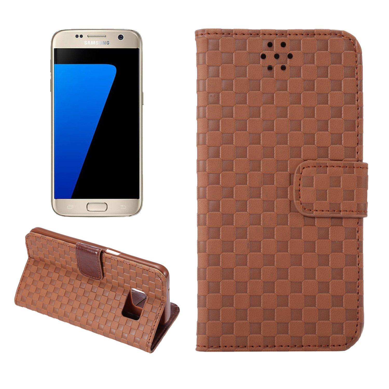 J41S Samsung Galaxy S7Coque, Emplacement pour Carte Portefeuille en Cuir synthétique Support Holster Coque avec Protection d'écran pour Samsung Galaxy S7