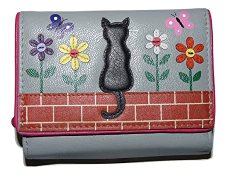 Zorro Black Cat FLAP OVER PURSE by Mala Leather soft leather GIFT DUSTBAG 3422