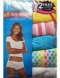 Fruit of the Loom Women's 8 Pack 100% Cotton Boyshort Panties