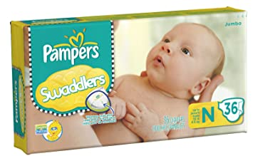 Pampers Swaddlers Diapers Jumbo Pack - 36 ct., Size newborn