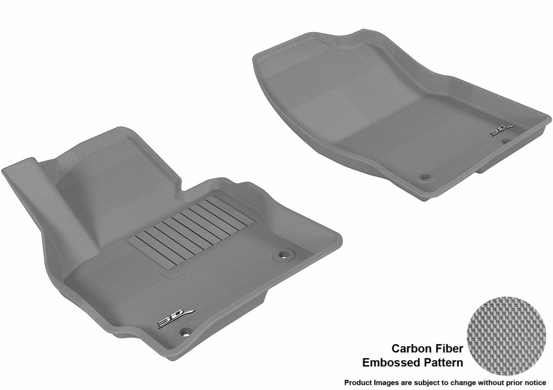 L1MZ03811509 Black 3D MAXpider Front Row Custom Fit All-Weather Floor Mat for Select Mazda CX-5 Models Kagu Rubber