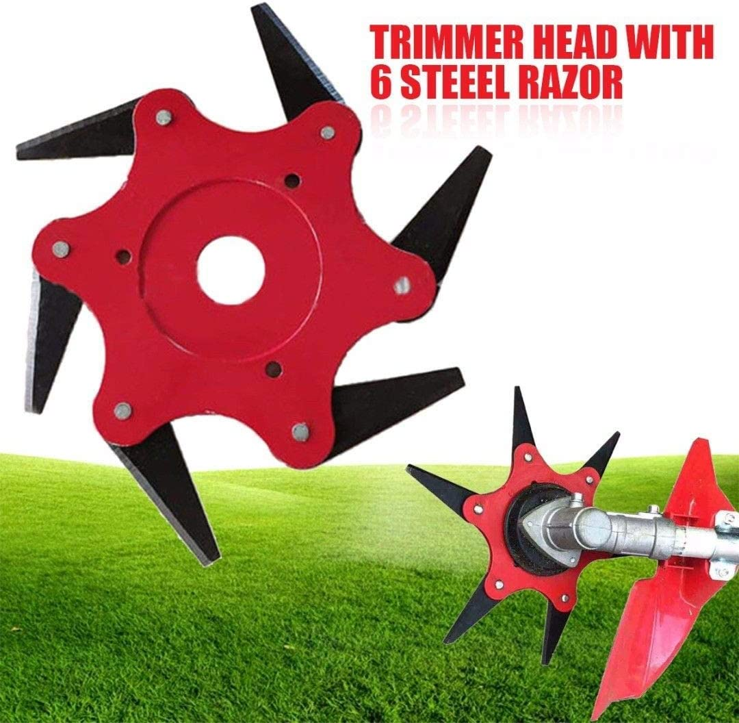 6Steel Blades Razors 65Mn Lawn-Mower Grass Eater Trimmer-Head Brush Cutter Tool