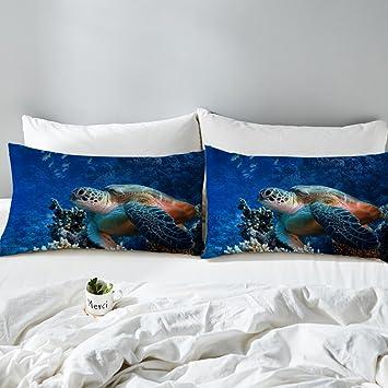 Amazon.com: arightex tortuga de mar funda de almohada fundas ...