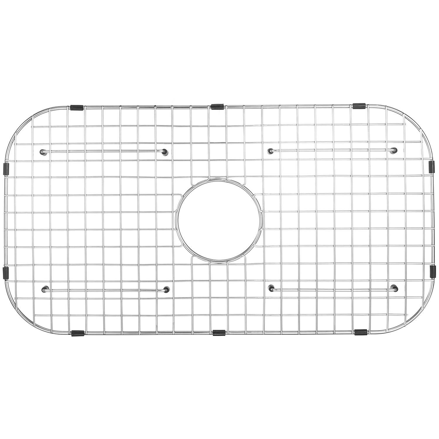 Serene Valley Sink Grid NDG6016, Fits Drawn sinks Bowl Size 28'' x 16'', Centered Drain with Corner Radius 3 1/2'', dim 26'' x 14 1/8''