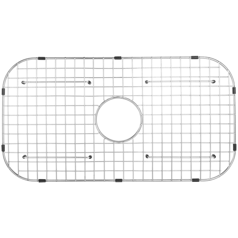 "Serene Valley Sink Protector NDG2814, Fits Drawn sinks Bowl Size 29 1/2"" x 16"", Centered Drain with Corner Radius 3 1/2'', dim 27 1/2"" x 14 1/4"""