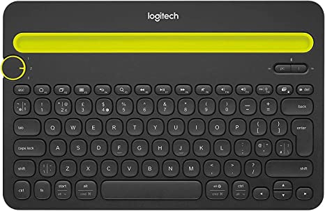 Amazon Com Logitech Bluetooth Multi Device Keyboard K480 Black Works With Windows And Mac Computers Android And Ios Tablets And Smartphones Computers Accessories