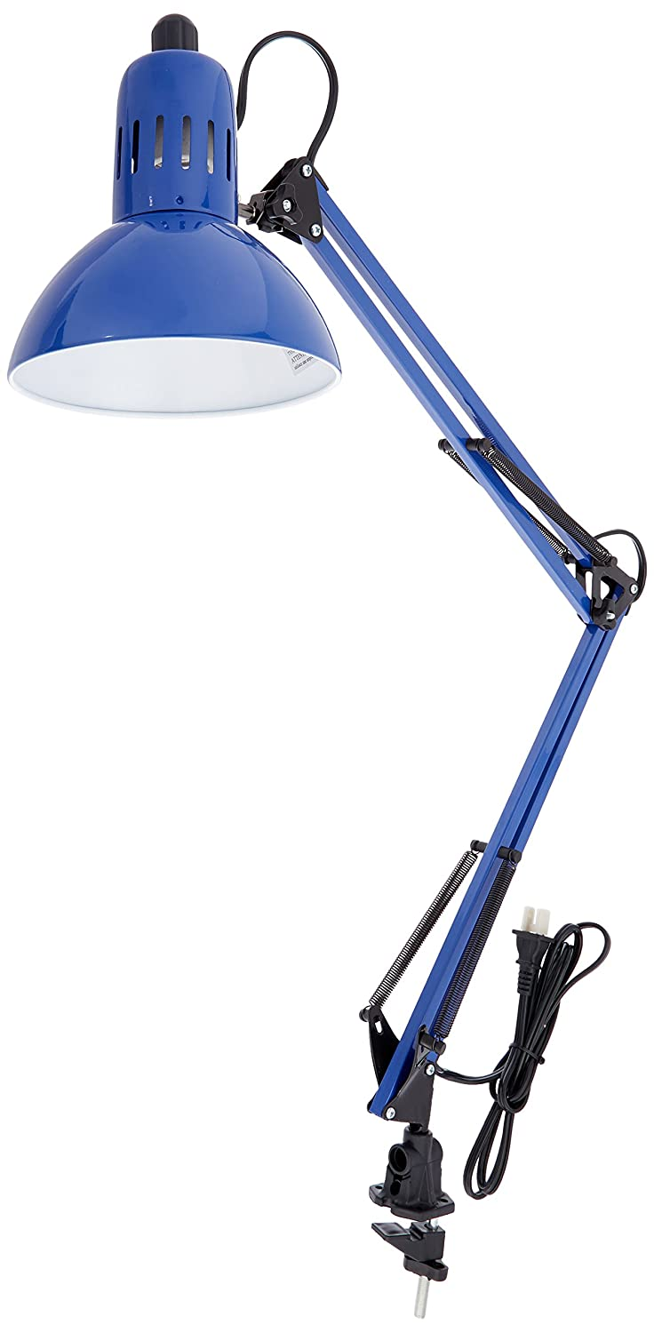 Lite Source LS-105BLU Desk Lamp with Blue Metal Shades, Blue Finish