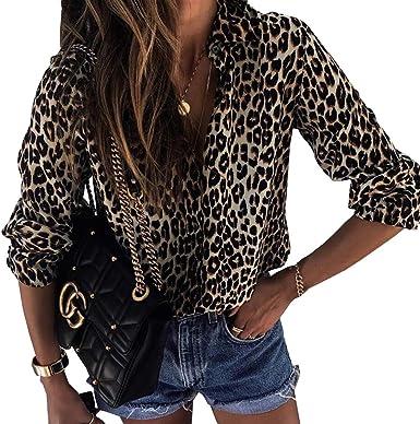 Romantc Womens Leopard Long Sleeve Lapel Open Front Floral Print Outwear Coat