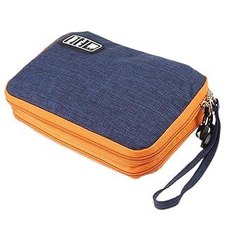 zhang-hongjun,Accessori elettronici impermeabili a doppio strato e borsa di conservazione del prodotto(color:DENIM BLU SCURO,size:GRANDE)
