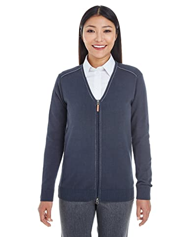 f9c83ec7ed Amazon.com  A Product of Devon   Jones Ladies  Manchester Fully-Fashioned  Full-Zip Sweater  Clothing