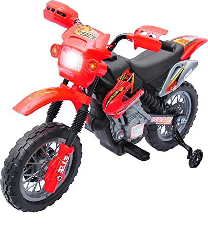 Kids Electric Motorcycle Ride on Toddler Motorbike 6V Bike Boys Outdoor Toy