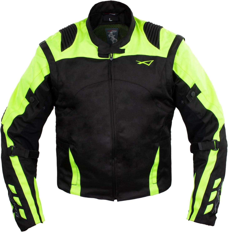 Blouson Tissu Haute Resistance Protections Motard Moto Touring Et/é Noire XXXL