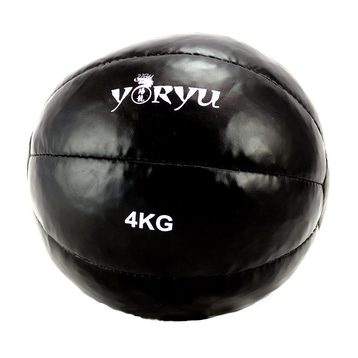 Balón medicinal Yoryu Crossfit Ball 4 kg. Negro: Amazon.es ...