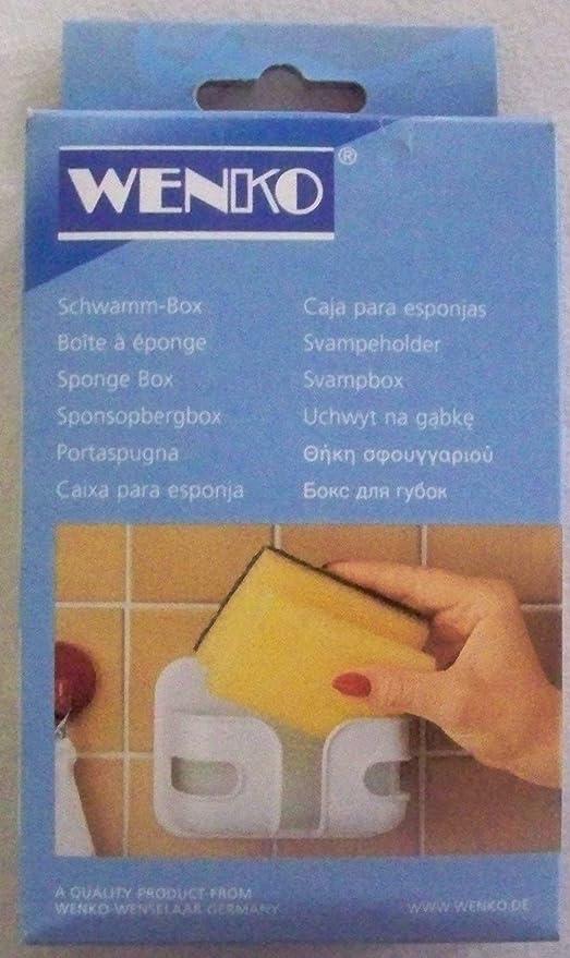 Contenitore porta spugne colore: Bianco Wenko 2020010100 in plastica 12 x 9 x 5 cm
